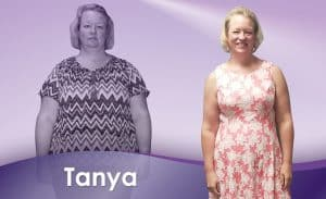 Before and After Weight Loss Tanya