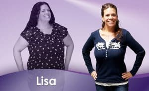 Before and After Weight Loss Lisa