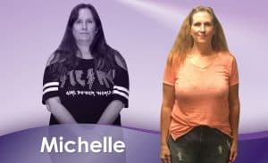Before and After Weight Loss Michelle