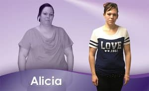 Before and After Weight Loss Alicia