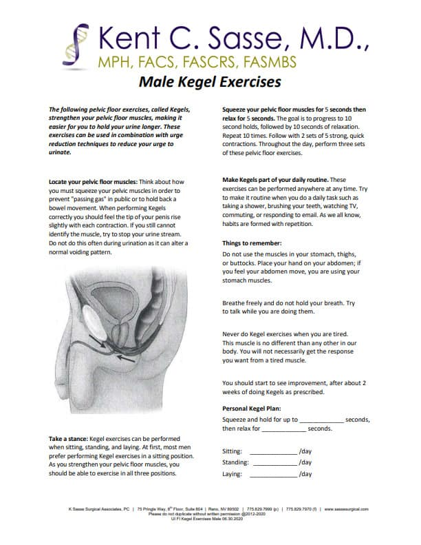 Male Kegel Exercises