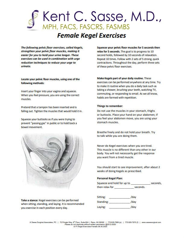 Female Kegel Exercises
