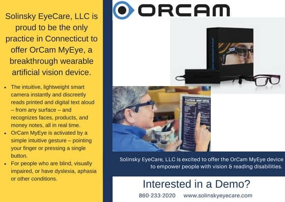 schedule an OrCam MyEye demo