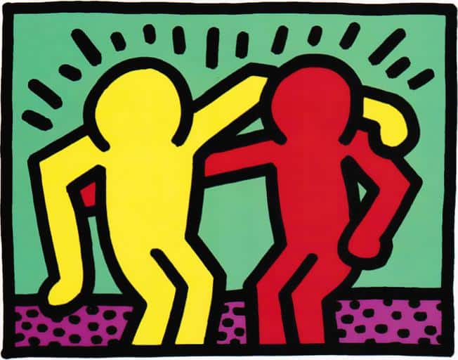 Keith Haring art about buddies