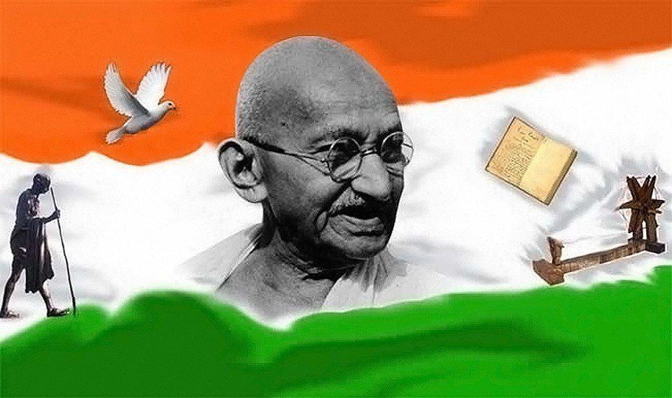 Mahatma Ghandi, renounced material things