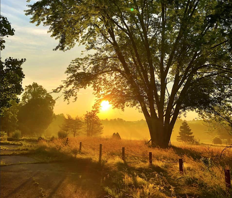 Dawn and sunrise